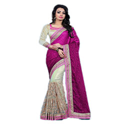 Heavenly Pink Georgette Casual Saree